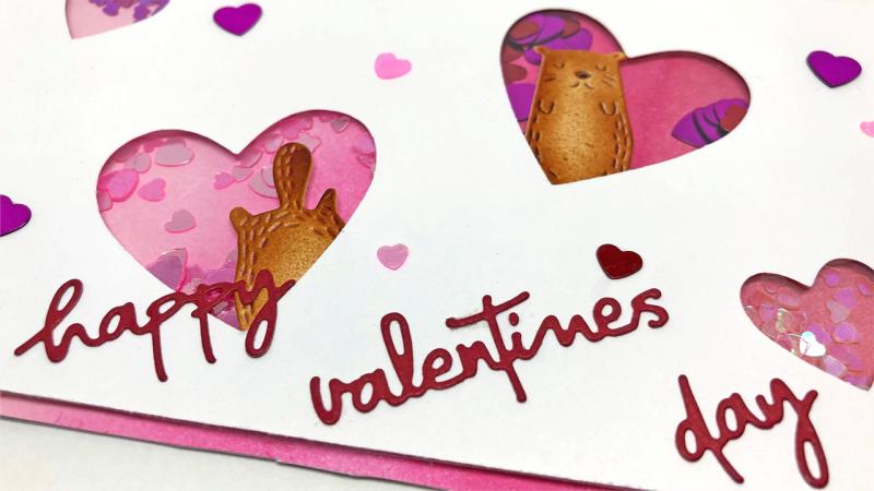 Valentine's Day Shaker Card 1