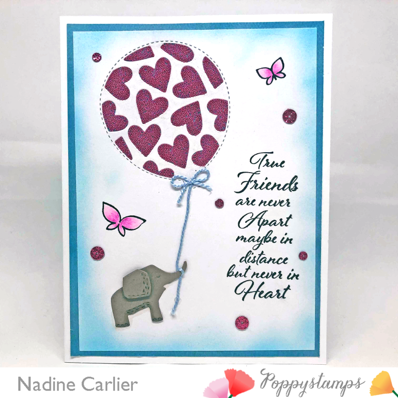 Friendship Card using Poppystamps by Nadine Carlier