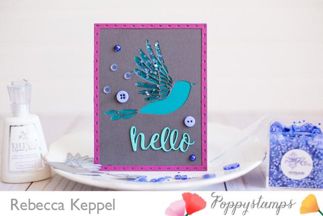 Rebecca keppel poppystamps winged bird die card 1