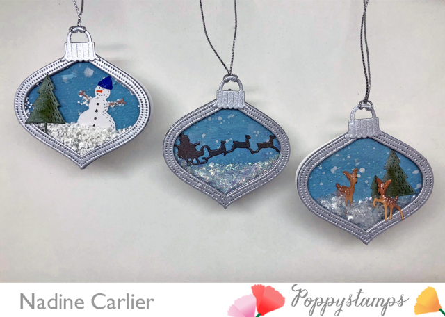 Shaker Gift Tags with Poppystamps by Nadine Carlier PS