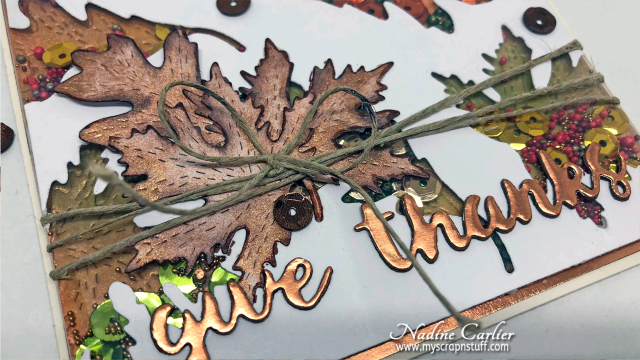 Fall Shaker Card by Nadine Carlier 3