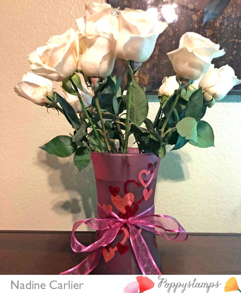 DIY Valentine Vase by Nadine Carlier PS