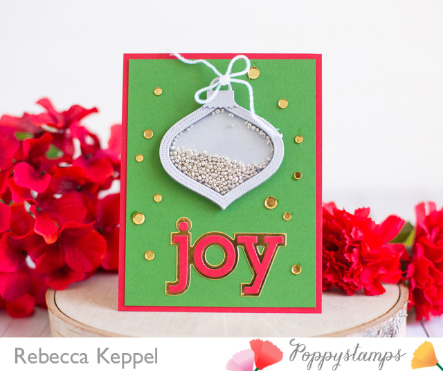 Rebecca keppel poppystamps joy shaker card 1