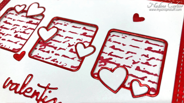 Valenitne Card with Poppystamps by Nadine Carlier 2