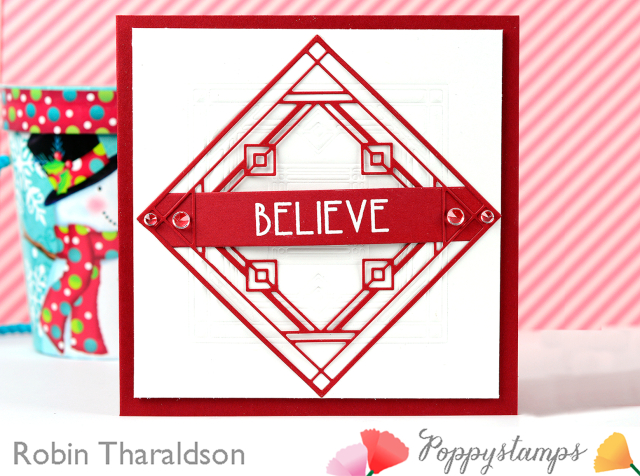 Art Deco Celebrate Christmas clear stamp set
