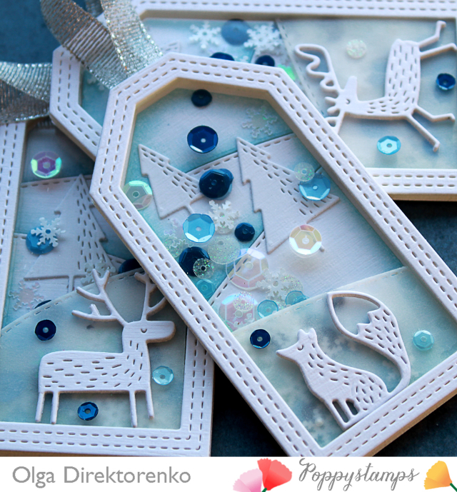 Winter Woodland Shaker Tags 2