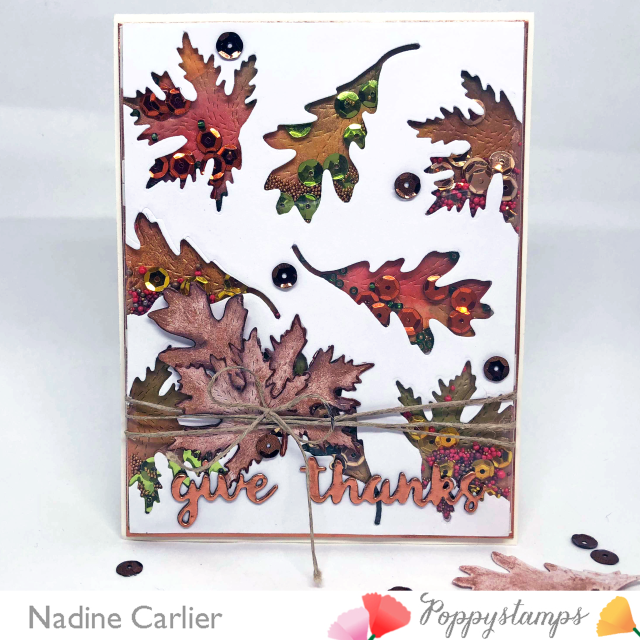 Fall Shaker Card by Nadine Carlier