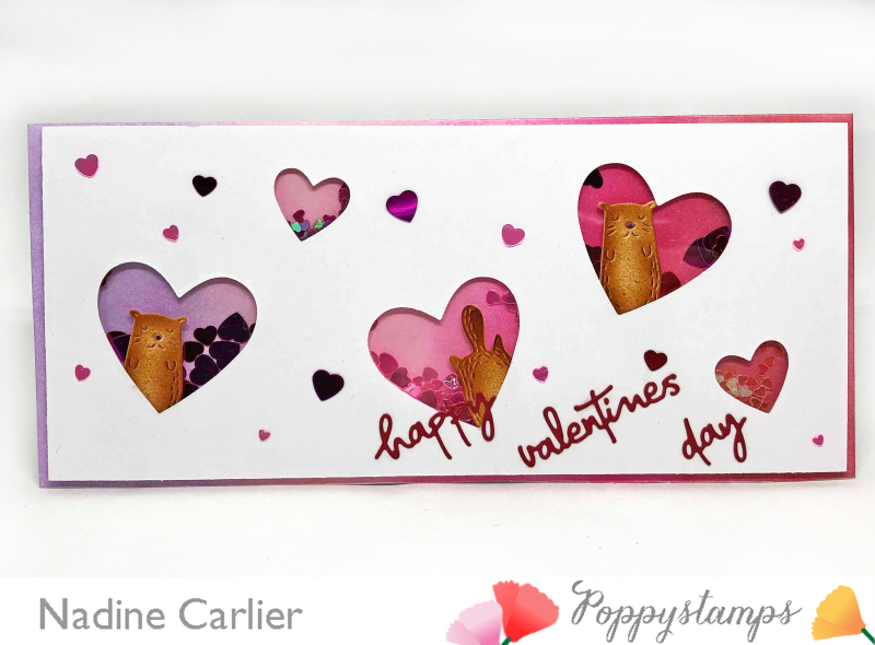 Valentine's Day Shaker Card by Nadine Carlier
