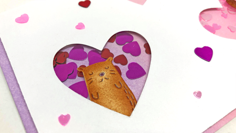 Valentine's Day Shaker Card 2