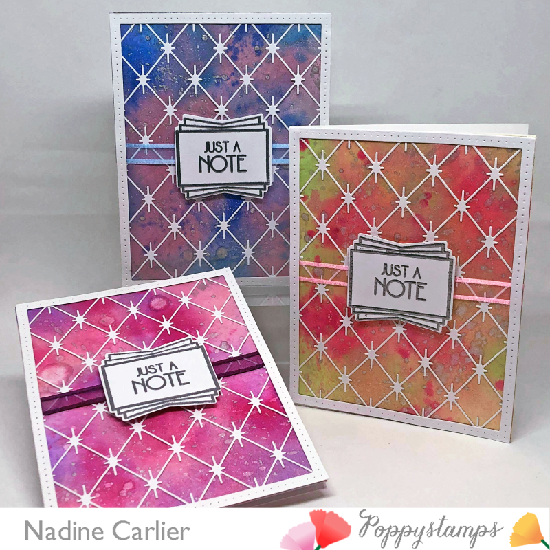 Thinking Of You Card by Nadine Carlier using Poppystamps