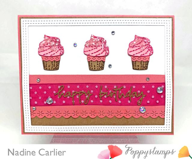 Cupcake Birthday Card by Nadine Carlier