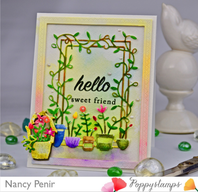 2179 Garden Poppy Sidekick Frame and Stencil