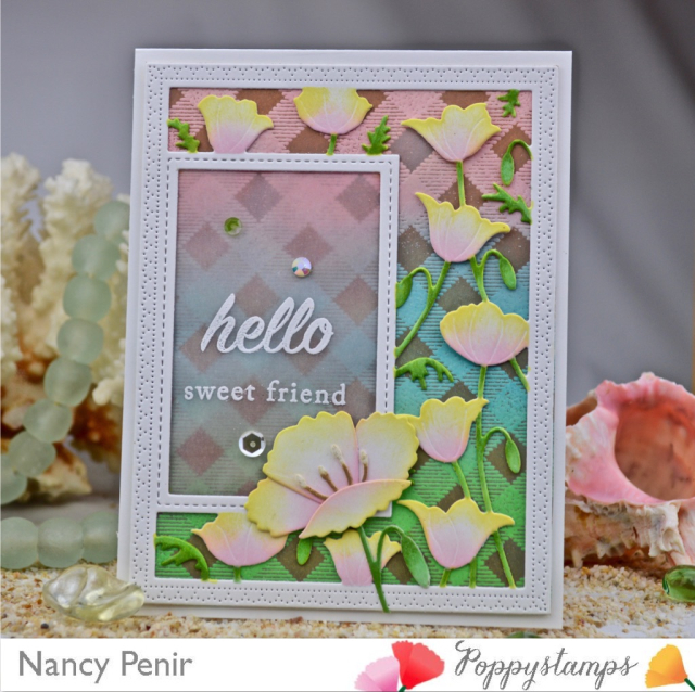 CL477 Flower Garden clear stamp set