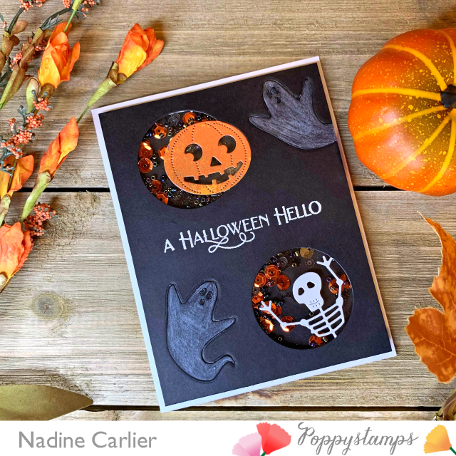 Halloween Shaker Card by Nadine Carlier ps