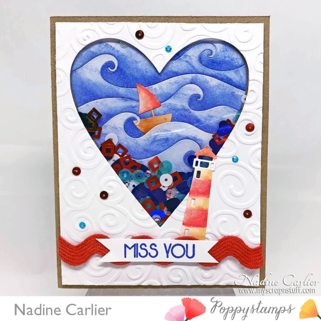 Miss You Shaker Card by Nadine Carlier