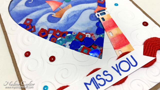 Nautical Shaker Card by Nadine Carlier 2