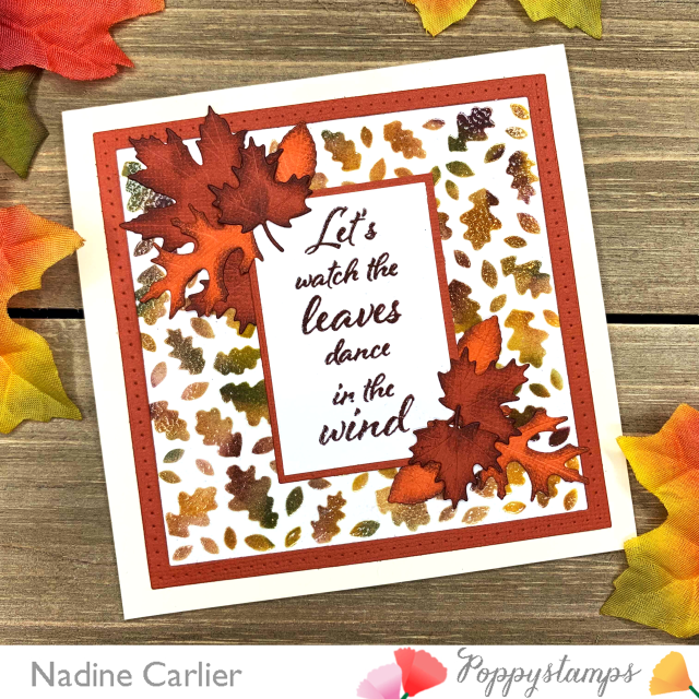 Autumn Leaves Card by Nadine Carlier PS