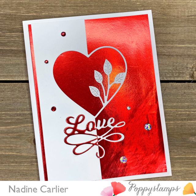 2286 Simple Leaf Heart Split Border craft die