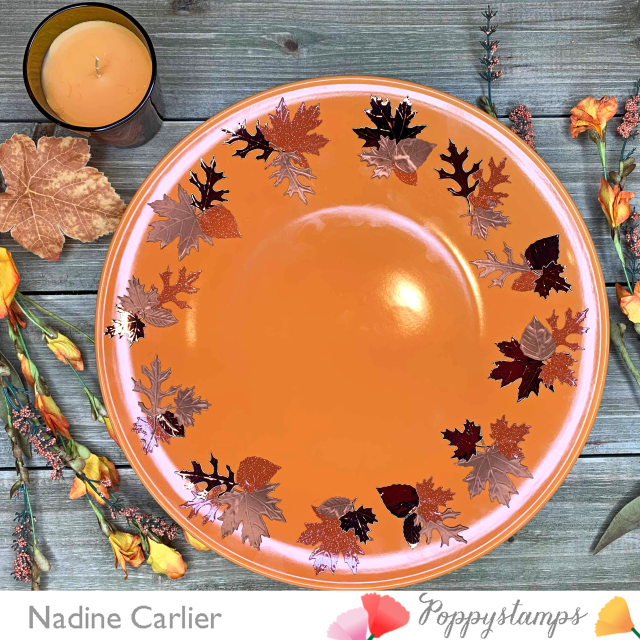 Autumn Plate by Nadine Carlier PS