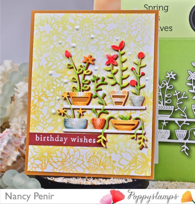 2174 Spring Pots Shelves craft die