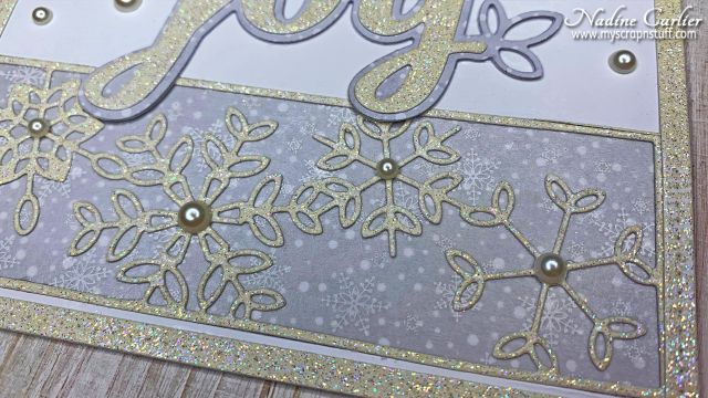 Joy Snowflake Card by Nadine Carlier 1