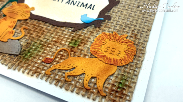 Party Animal Card with Poppystamps by Nadine Carlier 2