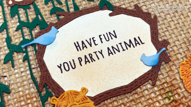 Party Animal Card with Poppystamps by Nadine Carlier 3