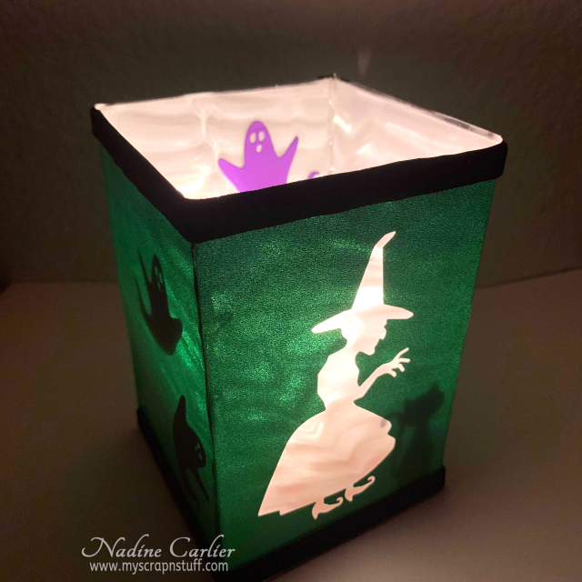 DIY Halloween Tea Light Holder by Nadine Carlier 1