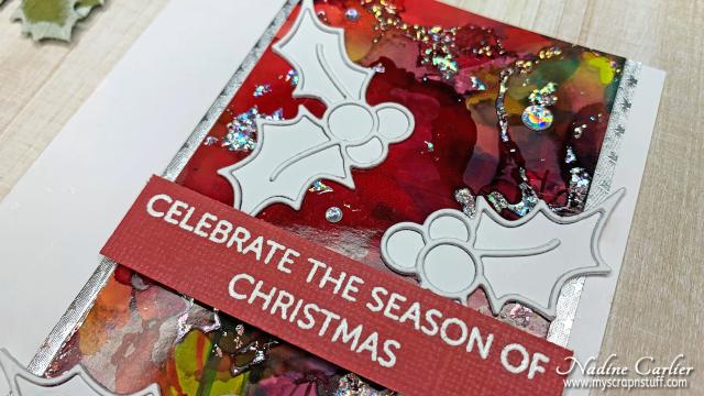 Holly Christmas Card by Nadine Carlier 3