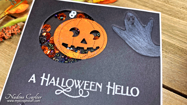 Halloween Shaker Card by Nadine Carlier 2