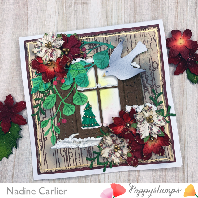 Window Christmas Card by Nadine Carlier PS