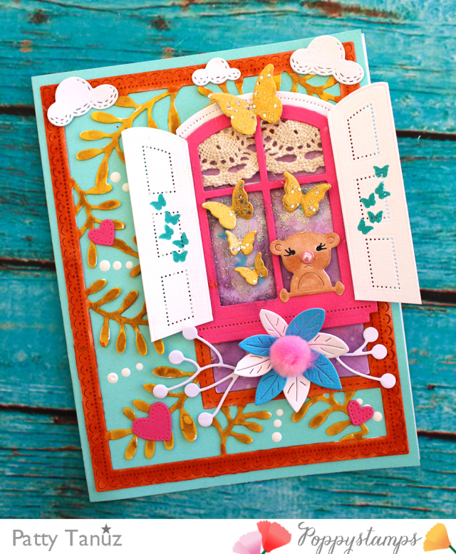 2202 Peek a Boo Bear craft die