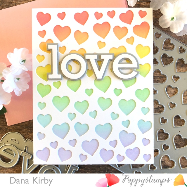 2303 Confetti Heart Plate craft die