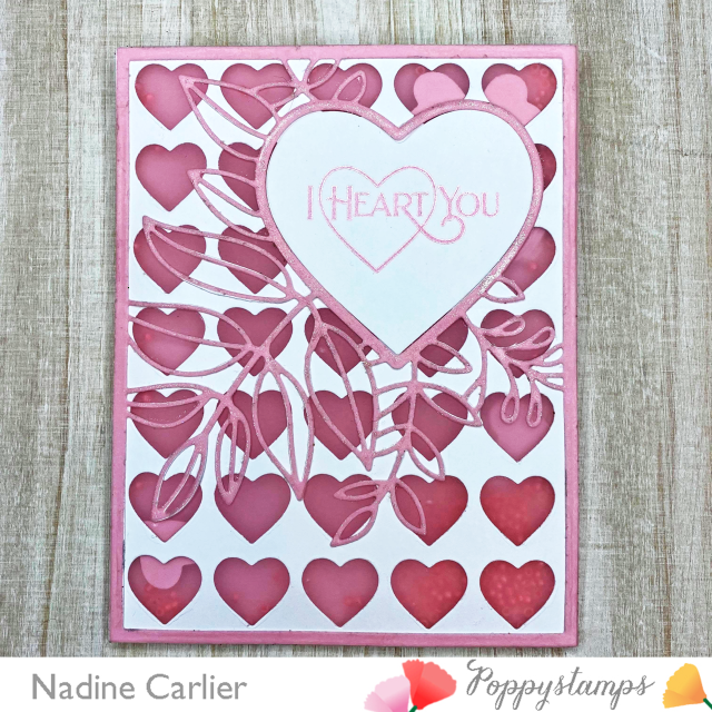Valentines Day Shaker Card by Nadine Carlier
