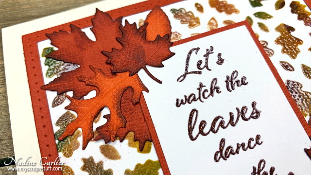 Autumn Leaves Card by Nadine Carlier 2