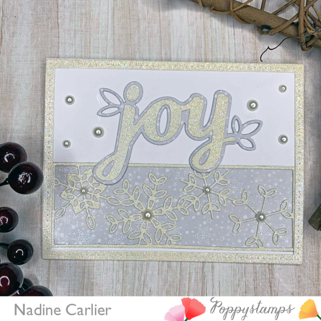 Joy Snowflake Card by Nadine Carlier ps