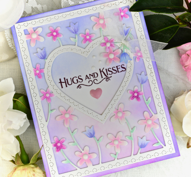 2307 Meadowblossom Frame and Stencil craft die