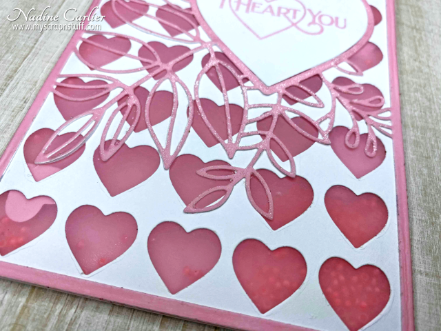 Valentines Day Shaker Card by Nadine Carlier 2