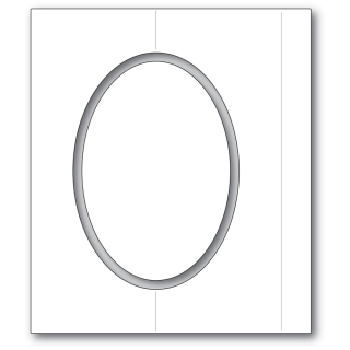 Poppystamps Oval Fold Frame Die