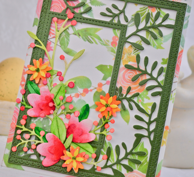 2220 Fun Floral Sidekick Frame and Stencil