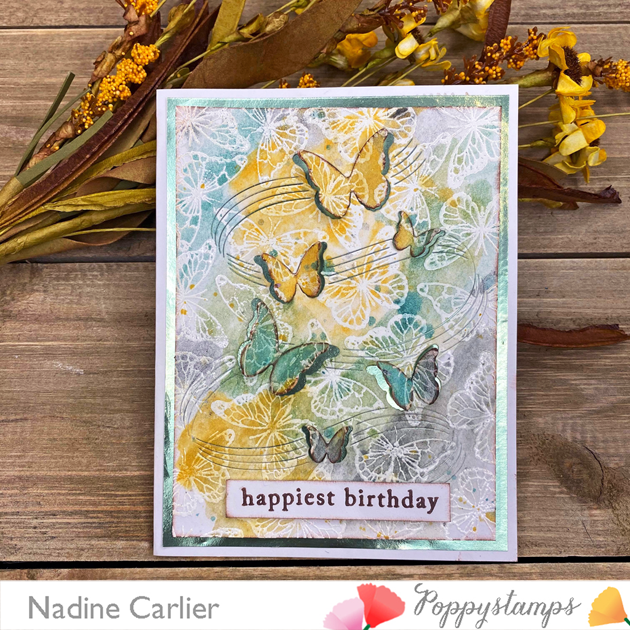 Birthday Butterfly Card by Nadine Carlier PS