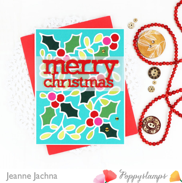 Poppystamps-Holly Background-Jeanne Jachna-4