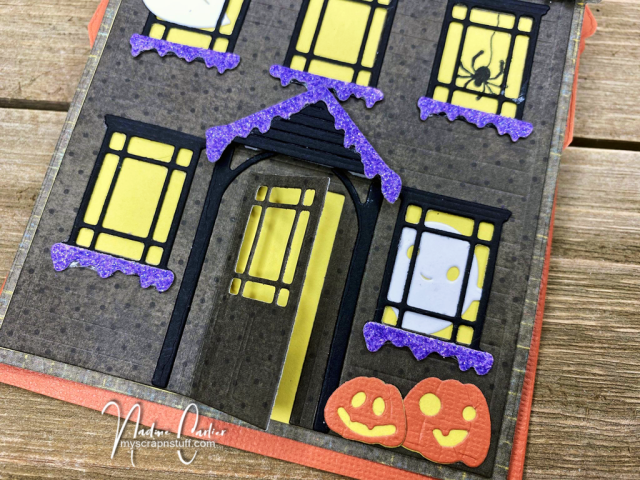Halloween Haunted House Easel Card by Nadine Carlier 3