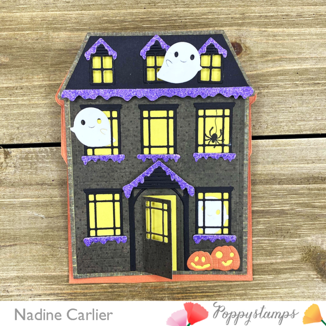Halloween Haunted House Easel Card by Nadine Carlier 1