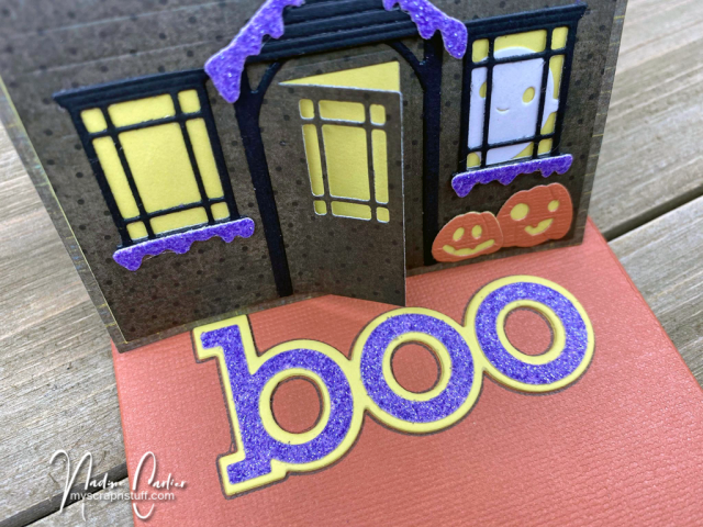 Halloween Haunted House Easel Card by Nadine Carlier 4