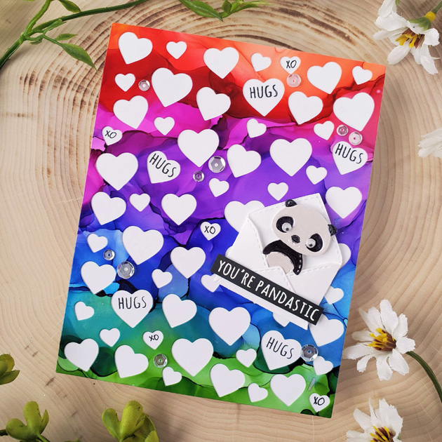 2303 Confetti Heart Plate