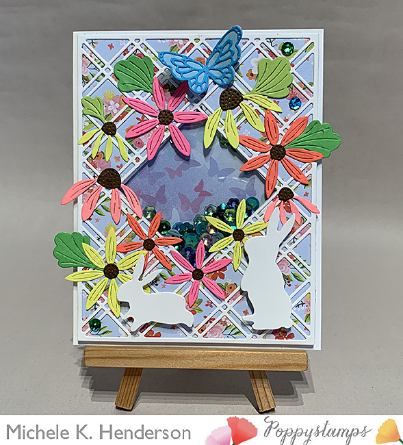 2377 Fern and Daisy Pop Up Easel Set craft die
