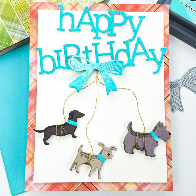 2406 Playful Happy Birthday craft die