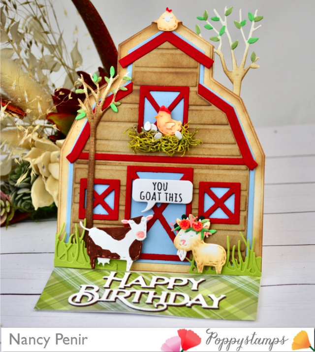 2443 Country Barn Pop Up Easel Set craft die