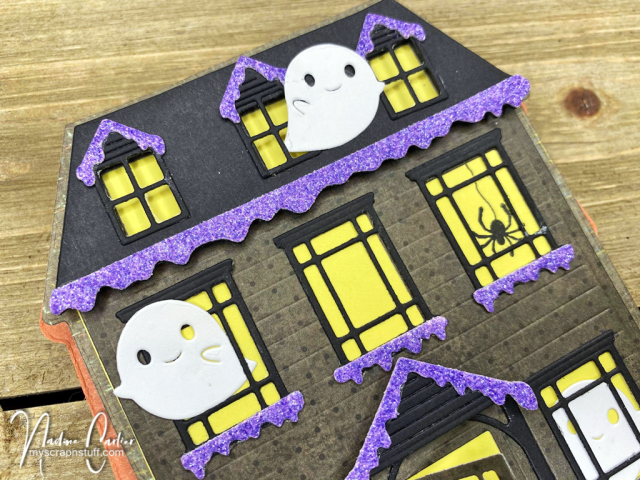 Halloween Haunted House Easel Card by Nadine Carlier 2
